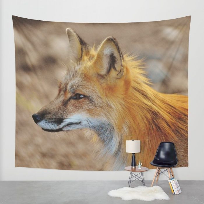 Inquisitive Mr. Fox Wall Tapestry by Mixed Imagery   Society6