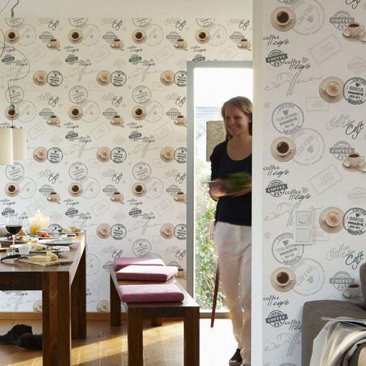 Mejores 59 im genes de papel pintado cocina en pinterest - Papel decorativo cocina ...
