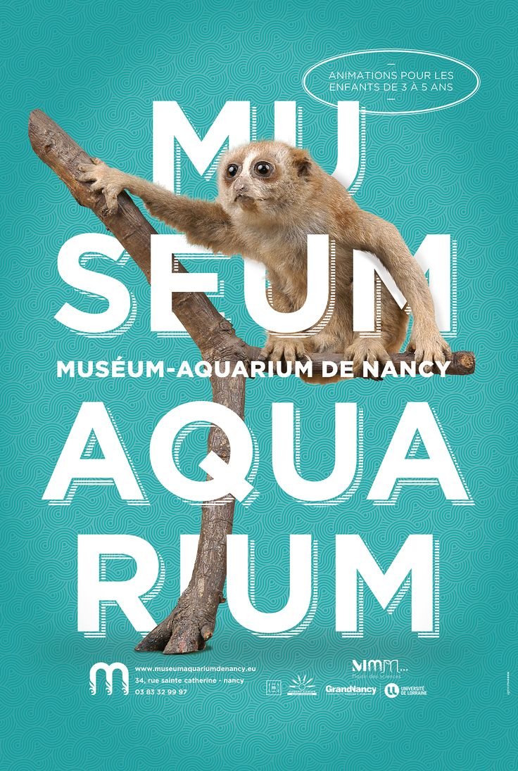 Poster design 99 - Absolutely Love This Poster Design Part Of A Series Click Through To See All Designs For Museum Aquarium De Nancy It S Very Bold And Eye Catching