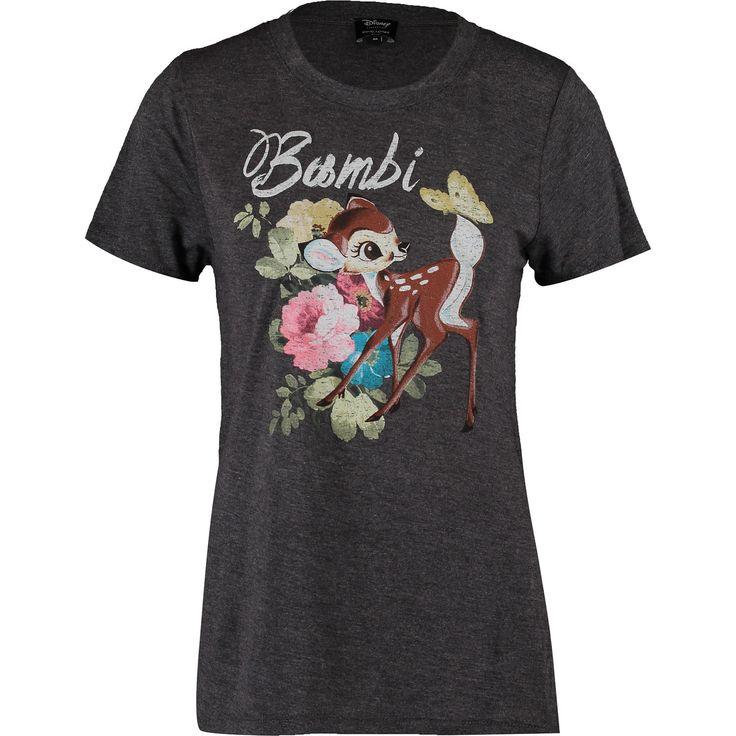 Charcoal Grey Bambi Longline T Shirt - Jersey Tops - Tops - Clothing - Women - TK Maxx