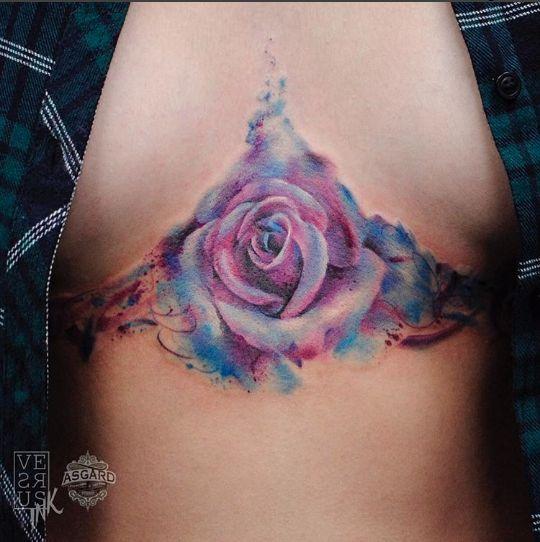 I vibranti e coloratissimi tatuaggi in stile acquerello di Alberto Cuerva