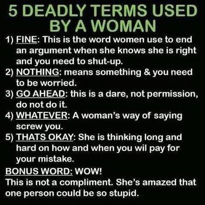 My husband needs to memorize these terms!