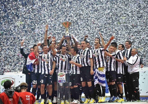 Juventus celebration the Champions Lega Calcio 2012
