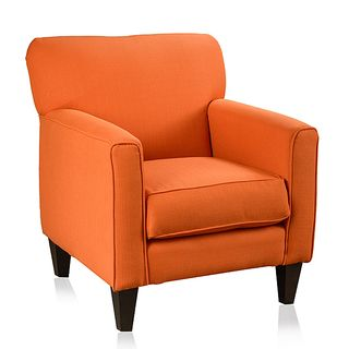 Christopher Knight Orange Fabric Club Chair $599.99...this would be the perfect chair for my home office