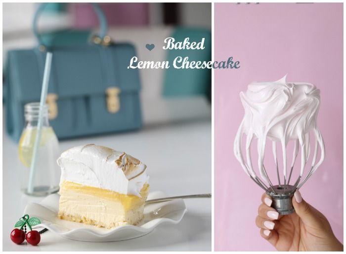 Recipe for baked lemon cheesecake.  Follow me on Instagram @passionforbaking   #lemon #cheesecake #baking