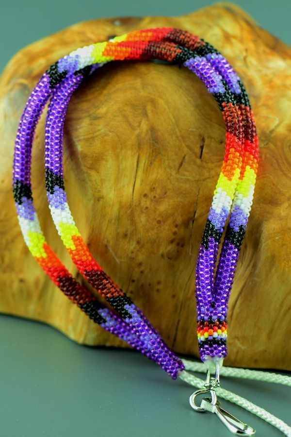 American Indian Lanyard Beaded | Navajo Lanyard | Native ...