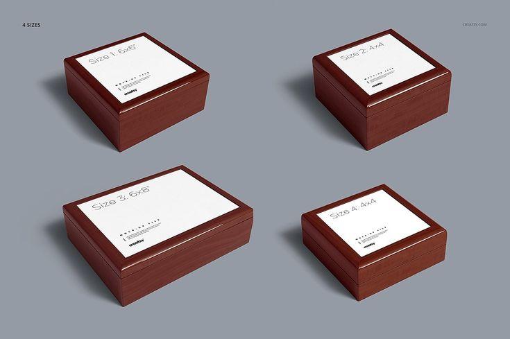 Download Tiled Wood Jewelry Box Mockup Set Wood Jewelry Box Wood Jewellery Box Mockup