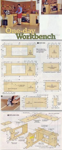 Garage Work Table Plans - Workshop Solutions Projects, Tips and Tricks | WoodArchivist.com