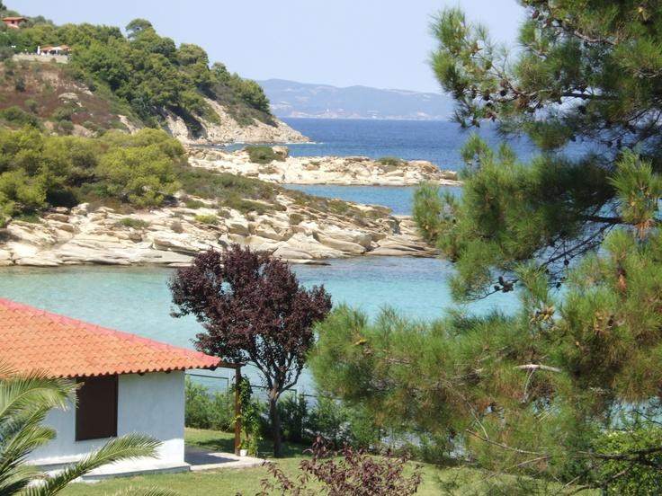 Lagonisi Beach, Halkidiki, Greece.