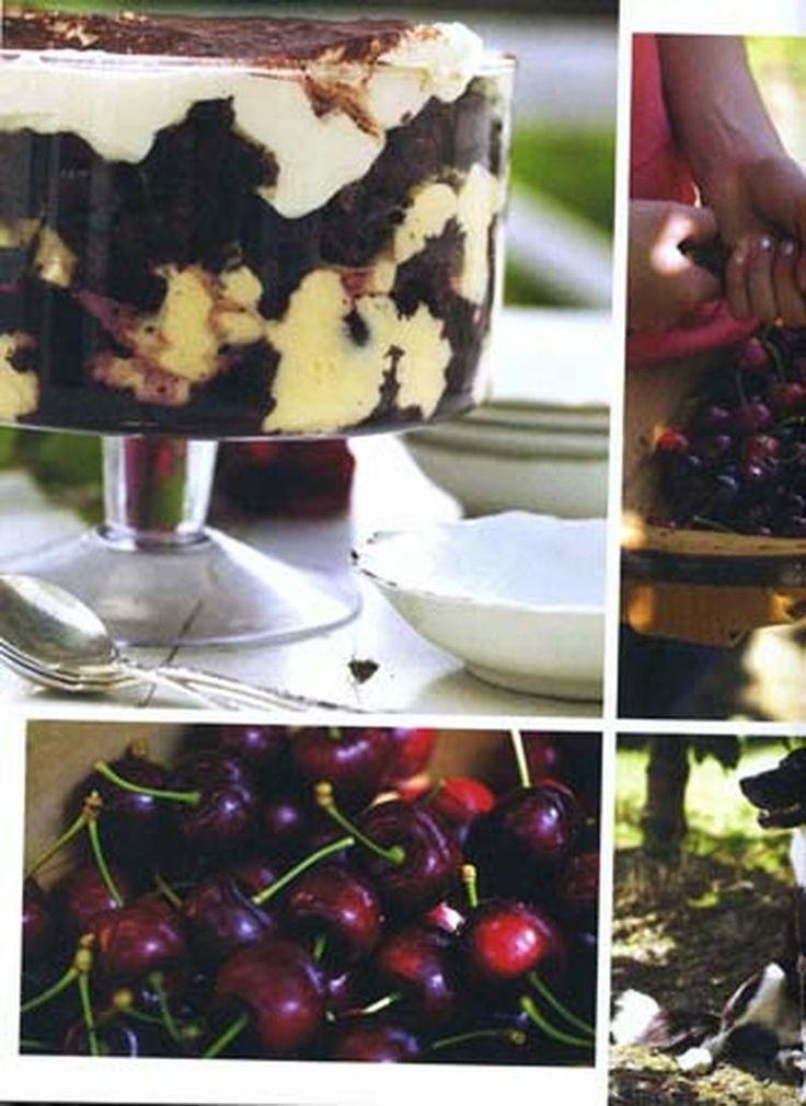 chocolade kersen tiramisu van Annabel Langbein. Erg lekker en simpel