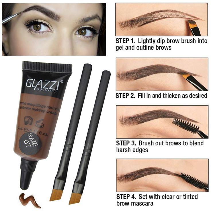 Profesional Maquillaje de Ojos Marrón Tinte de Cejas de Larga Duración A Prueba de agua Ceja Enhancer Ceja Maquillaje Seco Pinceles Sets