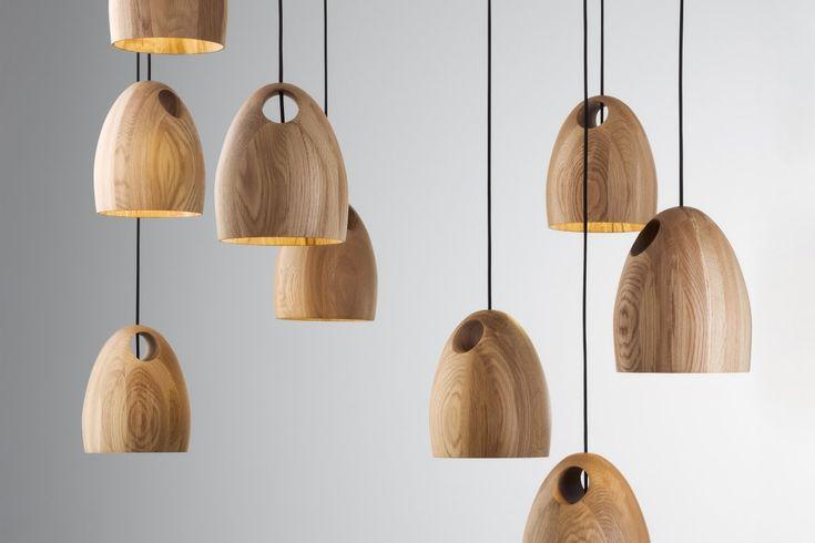 Oak pendant lamps: Ross Gardam, Australia