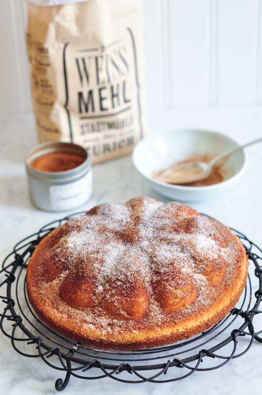 Cinnamon Tea Cake. Recipe adapted from Margaret Fulton.