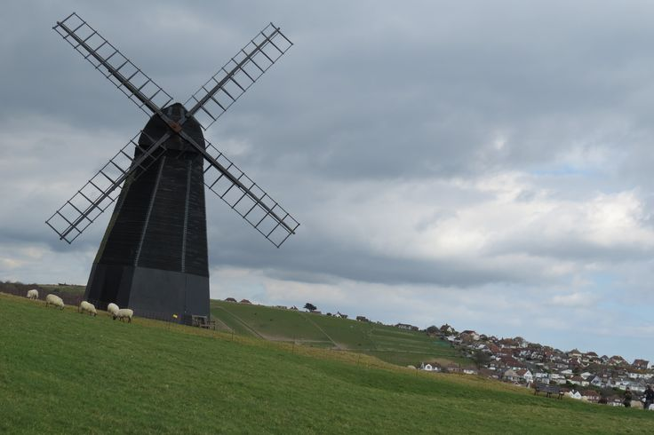 An image of a windmill in Sussex taken by blind photographer Bob