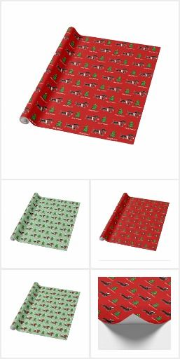 Dachshund Christmas Wrapping Paper 1