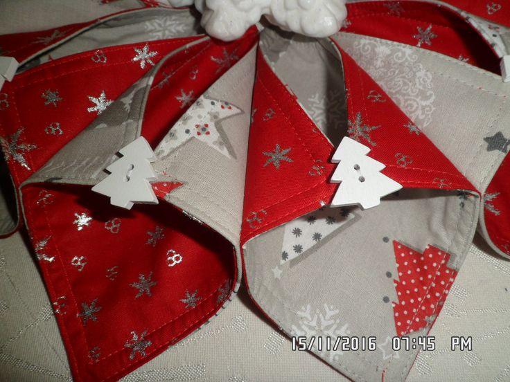 Látkový věneček -vánoční