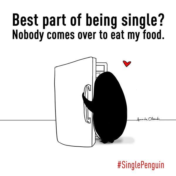Single Penguin, Valentine's Day