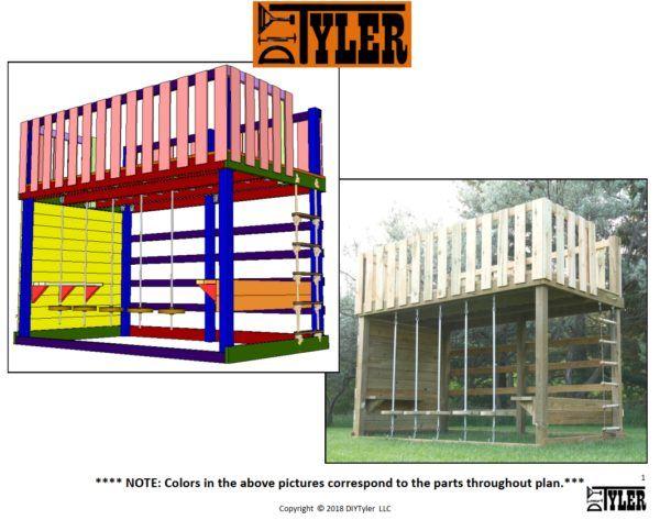 Obstacle Course Pdf Plans Diytyler Diy Storage Shed Plans Jungle Gym Shed Plans