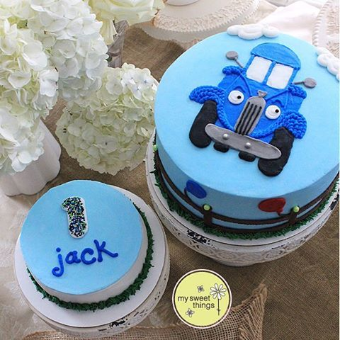 Little Blue Truck for Jack's 1st birthday!#birthdaycake #smashcake…