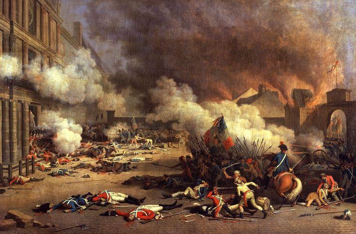 La Prise du palais des Tuileries, cour du Carrousel, 10 août 1792.