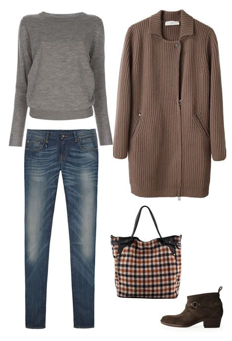 taupe and grey
