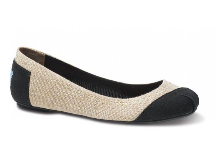 Ballet Flats - Burlap Alessandra Ballet Flats | TOMS.com