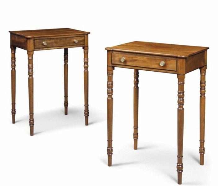 A Pair of Regency Mahogany Side Tables with Ebony Stringing - Circa 1815