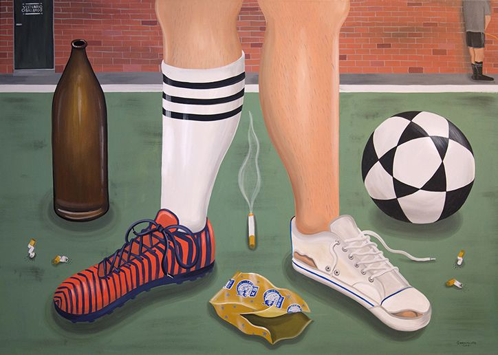 Artist Martin Gordopelota captures the passion for amateur football in Argentina.