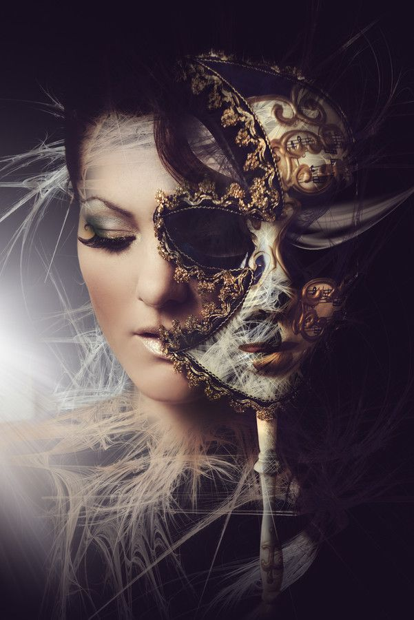 """She hid behind the mask because she was insecure. Then, the only man without a mask smiled and walked over, pulling it away. 'You are already beautiful.' He told her softly."""
