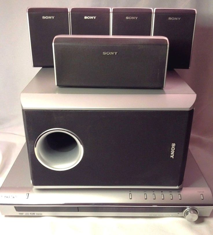 Sony DAV-DZ100 5.1 DVD Home Theater System 5 Speakers Sub Woofer REMOTE RMADU001 #Sony