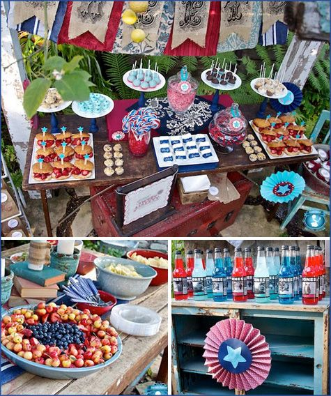 Labor Day, 4rth Of July, Party, Inspiration, BBQ, Recipes