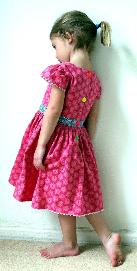 Pink Hand Made Shweshwe cotton dress by MathildeAndCo on Etsy, £25.00