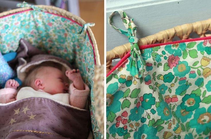 Le linge de lit de bébé * le couffin