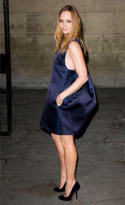 STELLA MCCARTNEY  Occupation: Fashion designer.    Wearing her own design at her show during London fashion week.