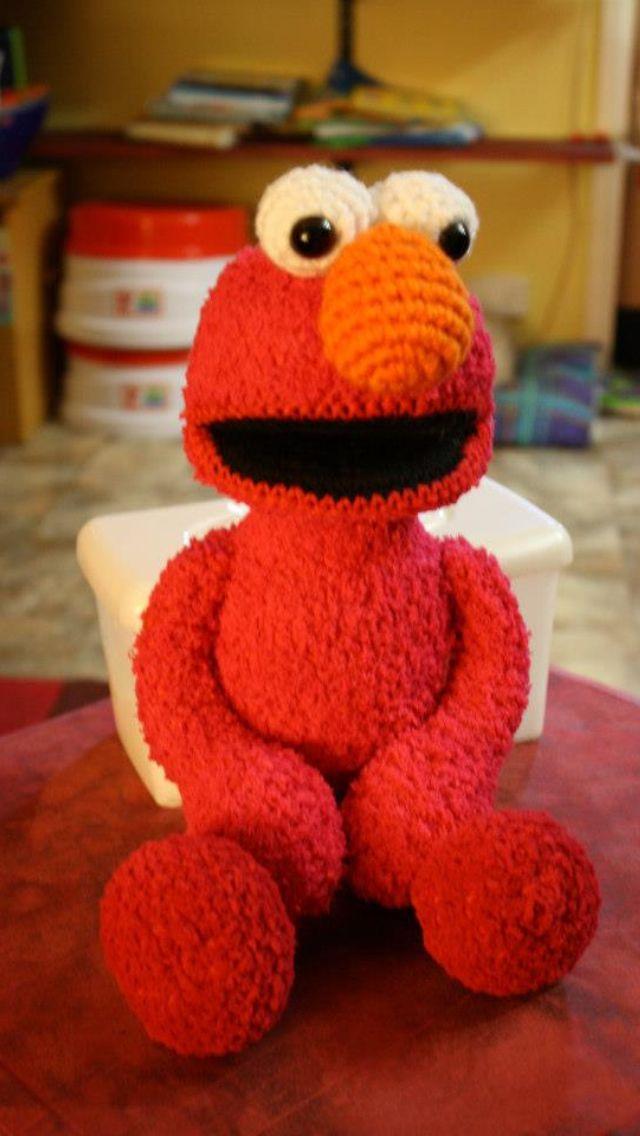 Elmo Crochet Toy Gift Haakpatronen Pinterest