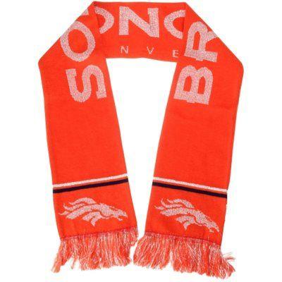 Denver Broncos Ladies Metallic Thread Scarf - Orange