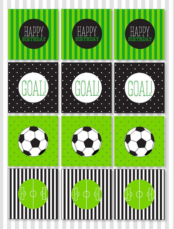 Fútbol para imprimir fiesta Cupcake Toppers descarga por lovetheday