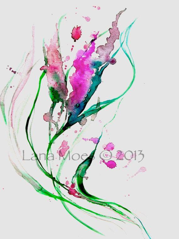 Original Abstract Watercolor Painting  LanasArt  Color by LanasArt, $35.00