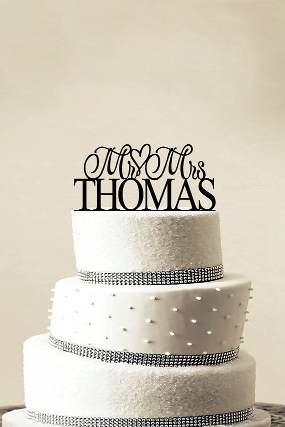 Custom Wedding Cake Topper Personalized Monogram by LASERWORLD, $10.00
