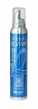 Loreal Elvive Styliste Mousse 200ml Extra Volume Firm Control Amplified volume, 48 hour hold for fine, flat, fragile hair. Enriched with Ceramide R - a replica of intercellular cement naturally present in the hair - its smooth formula is designed to help to give your hair an extra boost of volume and lift from the roots and offers a 48 hour long lasting hold thanks to its strong fixing power.