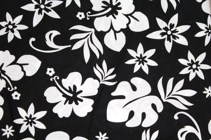 """Black and White Tropical Flower Fabric for Springs Creative END OF BOLT 1 Yard 29.5"""" x 44"""" Wide 100% Cotton Lightweight Apparel Craft by JacobandChloesLLC on Etsy"""