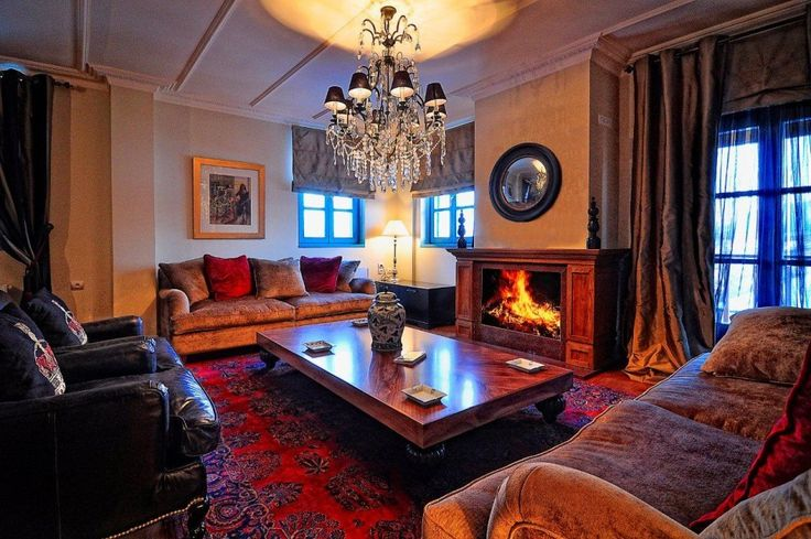 In winter, enjoy a variety of coffees and snacks, and a glass of local wine in front of the fireplace. #ZagoriSuites http://www.tresorhotels.com/en/hotels/70/zagori-suites#content