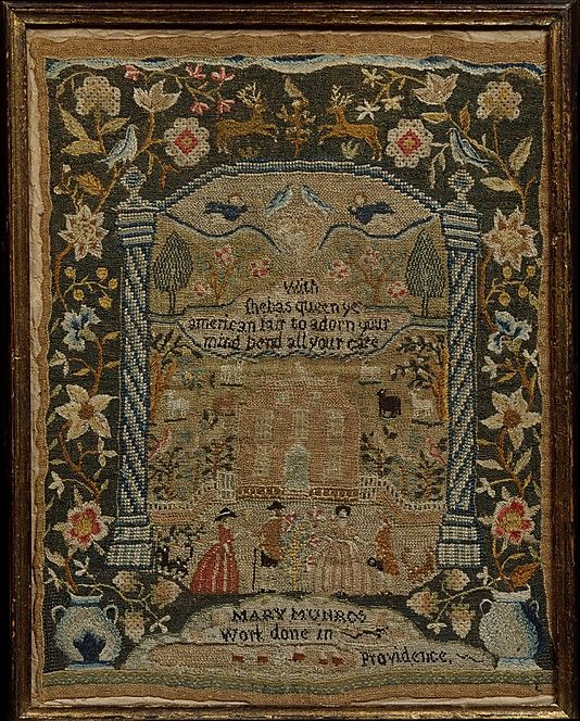 Embroidered Sampler  Mary Munro  (born 1776)