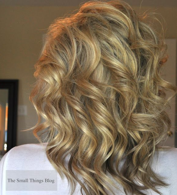 Cute Hair Tutorial - Curling Wand: Small Things Blog, Hair Tutorials, Curls Hair, Medium Length Hair, Curling Wands, Hair Style, Curls Wands Tutorials, Curly Hair, Wands Curls