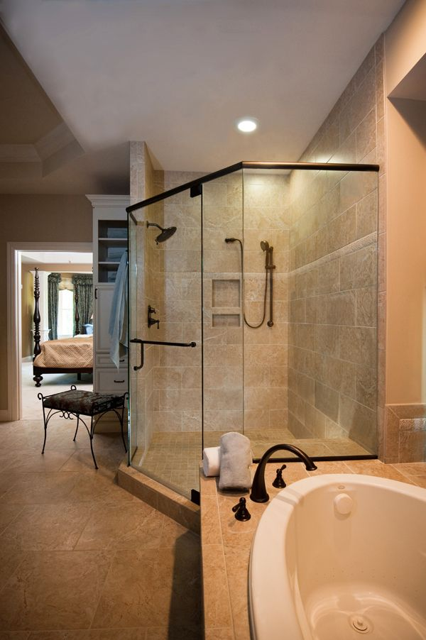 acrylic panels for bathroom walls%0A Celesta Neo Angle Shower Enclosure with Clear glass and Brushed Nickel  finish