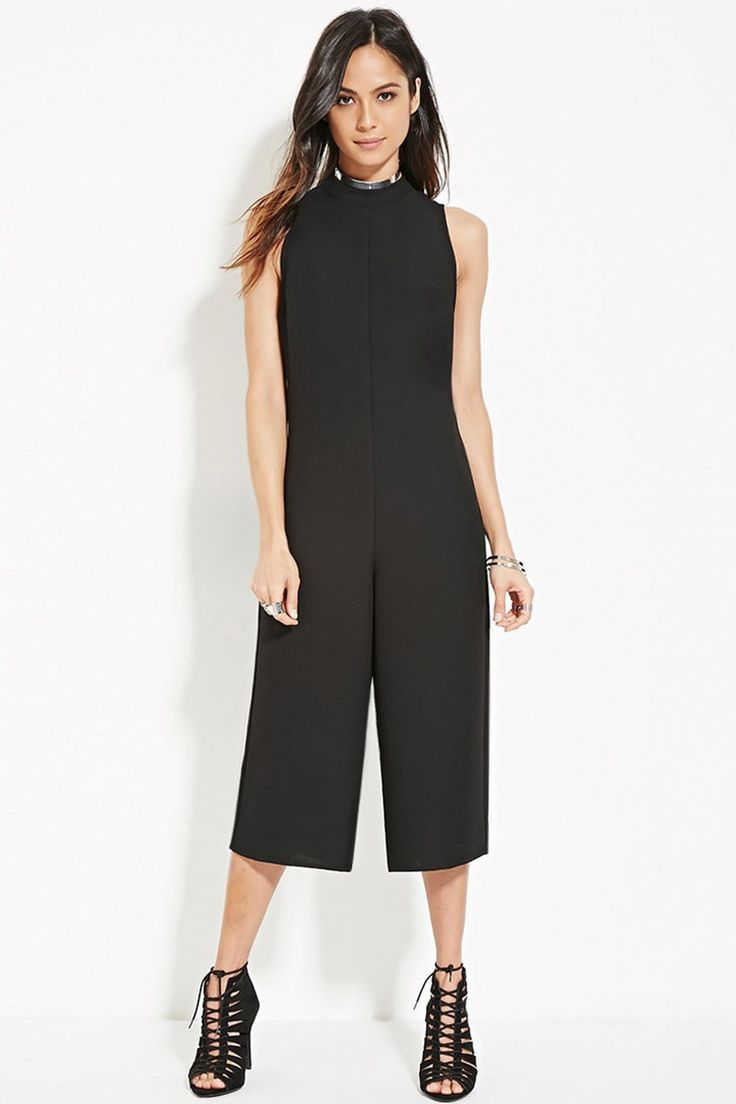 High-Neck Capri Jumpsuit · Women's Jumpsuits & RompersWomens ...