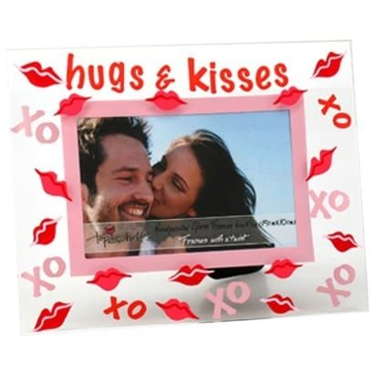 Top Shelf Hugs and Kisses Picture Frame (Glass)