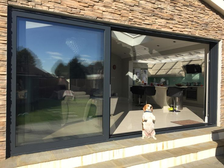We Manufactured And Installed Double Glazed Aluminium Sliding Doors And  Aluminium Casement Windows From Our Schueco Range In RAL Aluminium Double  Glazed ...