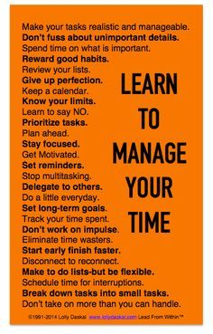 Manage your time more successfully with these tips!