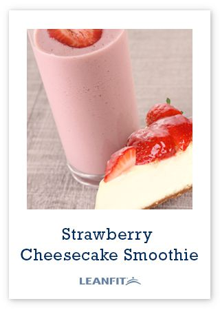 Make a shake version of the classic dessert cheesecake with strawberries. High in calcium, Vitamin C and protein, this is a treat you can feel good about.
